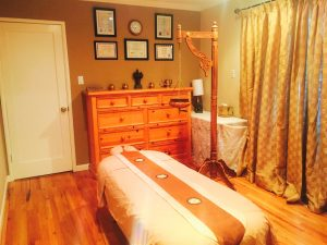 Panchakarma therapy room