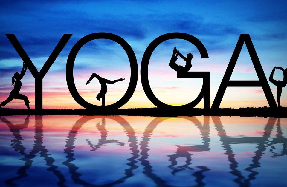 Yoga wording in color